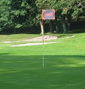 Bandera de golf doble capa venturygolf
