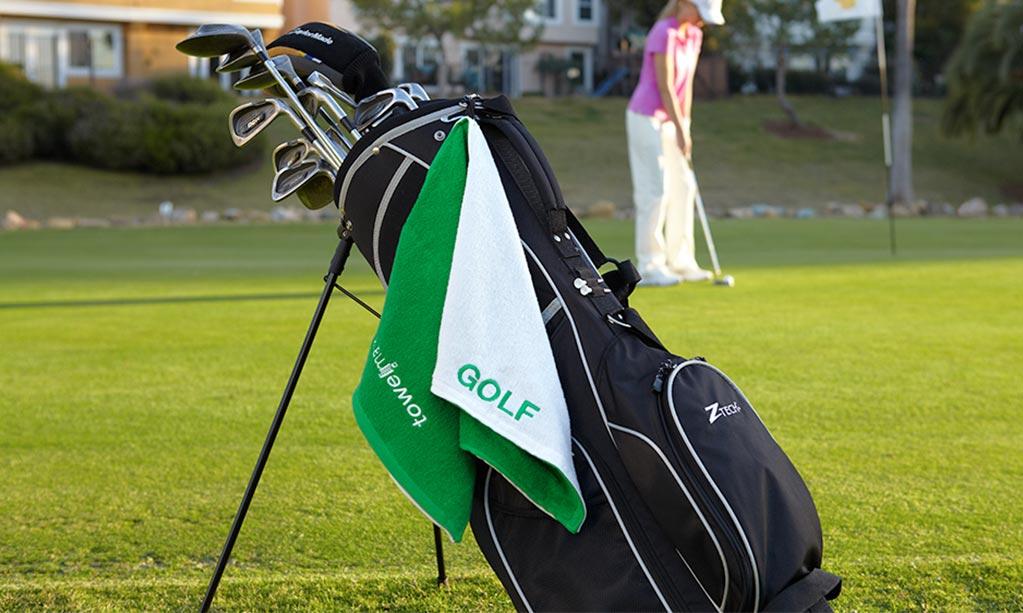 Toalla de golf con logo Venturygolf II